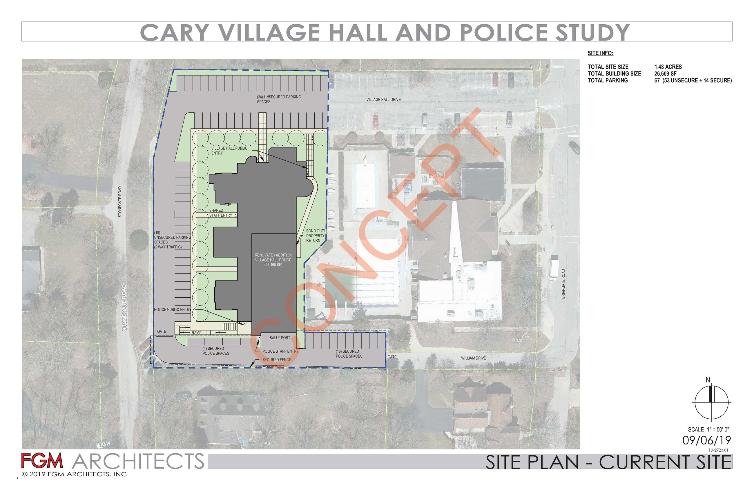 Cary Village Hall Police - Existing Site Concept_11x17_Page_1