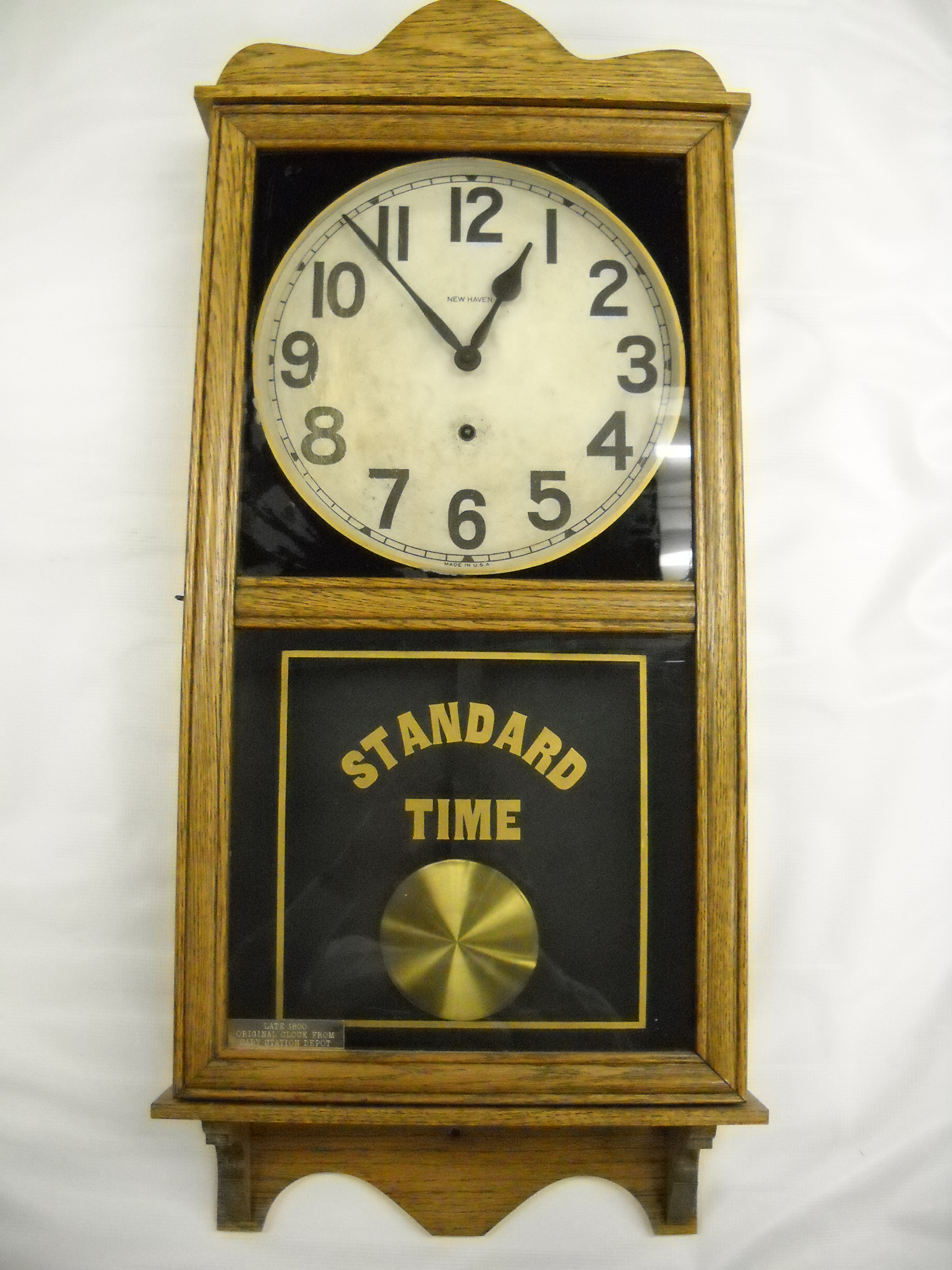 Original Wall Clock From the First Cary Station Train Depot