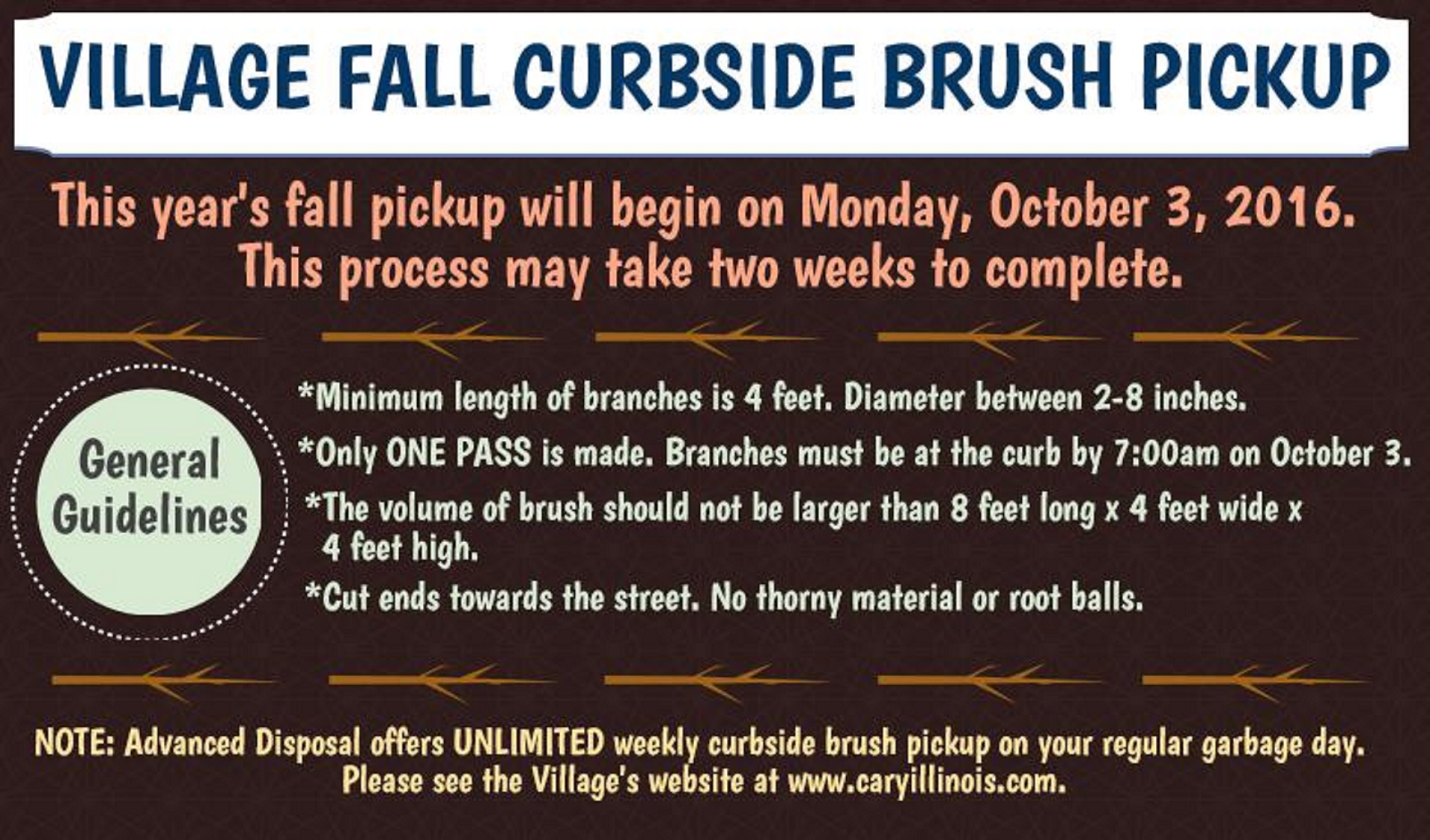 2016 Fall Curbside Brush Pickup