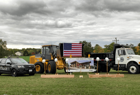On September 29th, the Village held a groundbreaking ceremony for the new Cary Municipal Center.