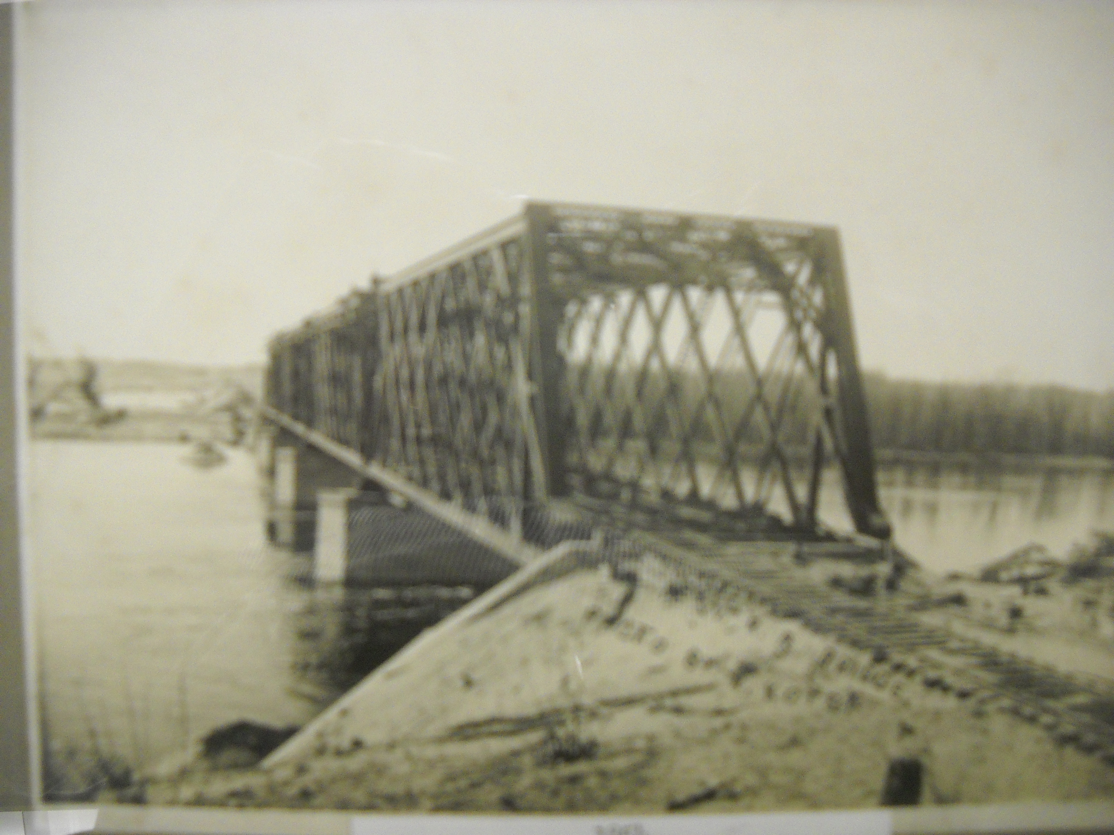 Railroad Bridge Between Cary and Fox River Grove, 1854